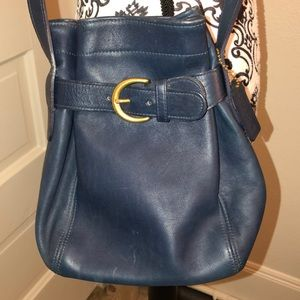 Coach Navy Leather crossbody good condition